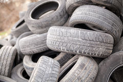 Used rubber tyres Stock Image