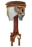 Used rusty car piston isolated on white. Used rusty car piston isolated on a white background Stock Image