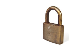 Used rusty padlock Stock Image
