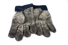 Used Safety Gloves royalty free stock photography