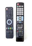 Used Satellite Receiver and TV Remote Controls Royalty Free Stock Images