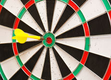 The used scratched dartboard Stock Images