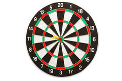 The used scratched dartboard Royalty Free Stock Images