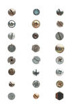 Used screws Royalty Free Stock Images