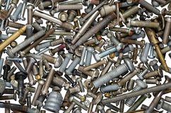Used screws Stock Image