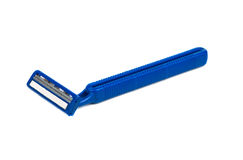 Used Shaving Machine. Use disposable shaving machine on white background Stock Photo