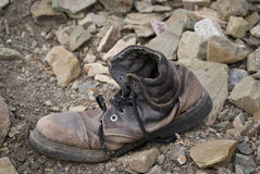 Used shoe -  to die of old age Royalty Free Stock Photo