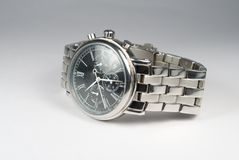 Used silver watch Stock Photos