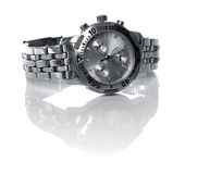 Used silver watch Royalty Free Stock Images