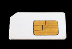 Used sim card. Royalty Free Stock Photos