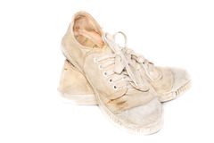 Used sneakers Royalty Free Stock Images