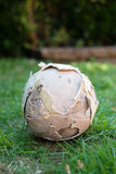 Used soccer ball Stock Images