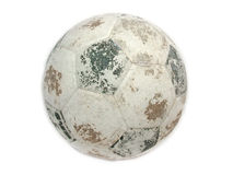USED SOCCER BALL Stock Image