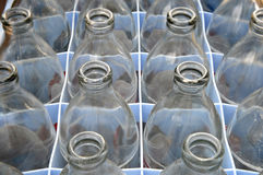 Used soda water glass bottle Stock Photography