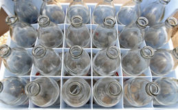 Used soda water glass bottle Royalty Free Stock Photography