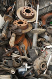 Used spare parts. Grouped together for recycle Stock Photography