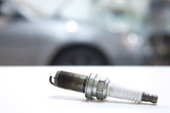 Used spark plug shot closeup Stock Photos