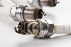Used spark plugs Stock Image