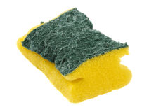 Used sponge isolated Stock Image