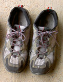 Used sport shoes. A pair of used sport shoes...don\'t ask about the smell Royalty Free Stock Photos