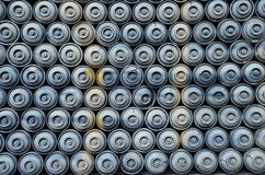 Used spray paint cans Stock Photos