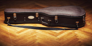 Used Suitcase For Guitar Royalty Free Stock Image