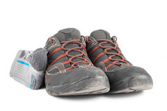 Used summer hiking shoes Stock Photos
