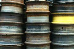 Used and surplus tire rims Stock Images