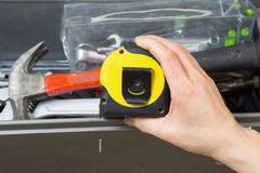Used Tape Measure Royalty Free Stock Photo