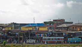 Used Taxi vehicles for sale at the market in Oshodi Royalty Free Stock Photos
