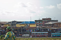 Used Taxi vehicles for sale at the market in Oshodi Royalty Free Stock Image