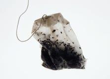 Used tea bag. On white background Stock Photos