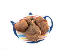 Used tea bags Stock Image