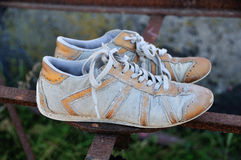 Used Tennis Shoes Royalty Free Stock Photo