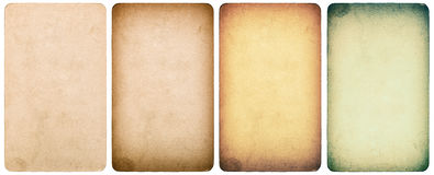 Used textured paper cardboard isolated. Instagram style. Used paper cardboard isolated on white background. Instagram style toned texture Royalty Free Stock Photos