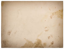 Used textured paper cardboard isolated on white. Retro style Royalty Free Stock Photography