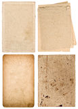 Used textured paper cardboard. Scrapbook objects Stock Image