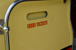 Used ticket waste bin. Stock Photography