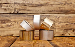 Used tin cans background Royalty Free Stock Photography