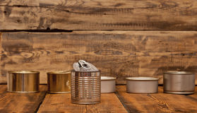 Used tin cans background Royalty Free Stock Image