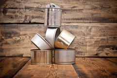 Used tin cans background Royalty Free Stock Photo