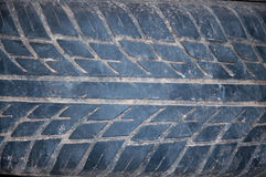 Used tire texture white dust. Used tire texture more dust royalty free stock photos