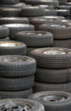 Used tires Stock Photos