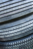 Used tires. Visible different treads Stock Images