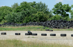 Used tires Stock Image