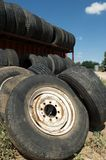 Used tires or wheels, Texas, US Royalty Free Stock Photography
