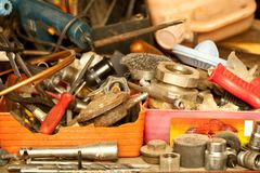 Used tools Royalty Free Stock Images