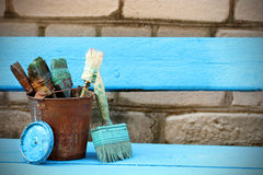 Used tools for painting Royalty Free Stock Photography