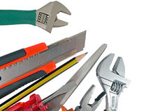 The used tools Stock Photo