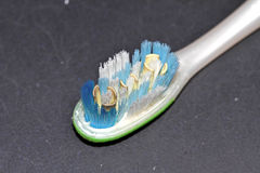 Used tooth brush Stock Image